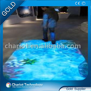 chariot all in one interactive floor projection system,3d