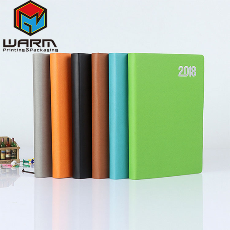Wholesale Sewing Hardcover Notebooks A5 Leather Bound Journal Notebook with Silver Foil