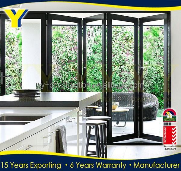 3 Panel French Doors Commercial Double Glass Doors Security
