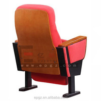 theatre seating , theater chair with solid wood armrest , church furniture chairs