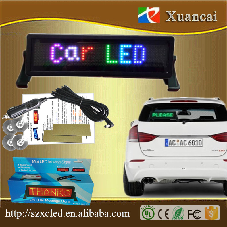 Indoor/Outdoor Hot Sale Advertising Top LED Display Car <strong>Screen</strong> for Front Rear Window Digital Dispplay