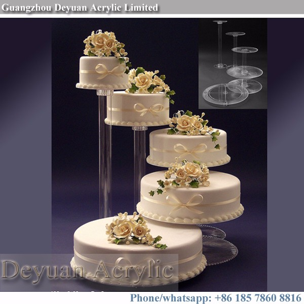 wedding cake stands to buy 3 4 tier wedding glass cake stand acrylic pedestal stands 8767