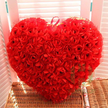 Hi Ce Latest Valentine S Day Gift Red Rose Silk Fabric Heart Shaped