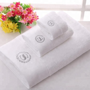 Factory price 5 star hotel white towels, embroidery blanks towels