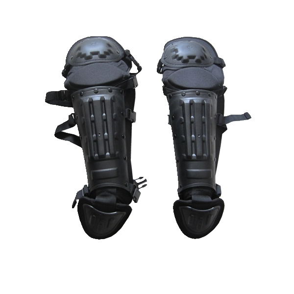 Elastic Strap PC/ ABS Military Paintball Shin Guard