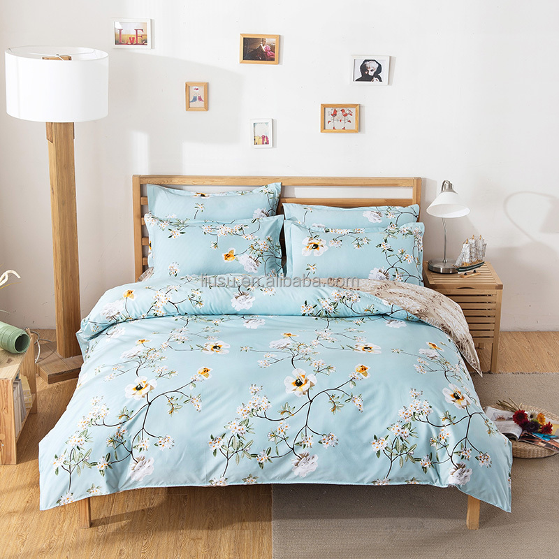 Factory direct sale printed 100% polyester bedding set