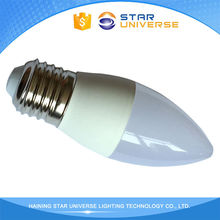 China Suppliers E27/E14 Plastic 3W 4W 5W 6W C37 led light candle lights,led candle light,led candle light bulbs