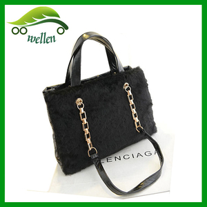 Alibaba China Fashion large women's fur winter handbag