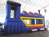 Inflatable cartoon train combo with bounce slide inflatable amusing