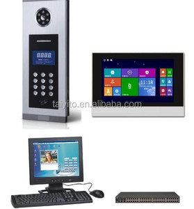 stable TCP/IP metal frame night vision Digital Home Wired Video Door Intercom System