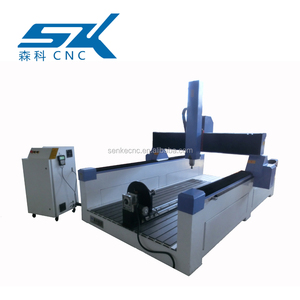3D 4 Axis figure molding Wood EPS Foam milling cnc router machine 1325 3kw with the rotary
