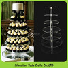 7 tiers round shaped cake display holder clear acrylic tall cupcake stands