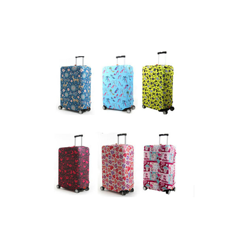 Washable Elastic Customized Travel Luggage Protector Baggage Suitcase Cover With Zipper