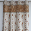 Heavy jacquard design French kitchen window curtains for decor home