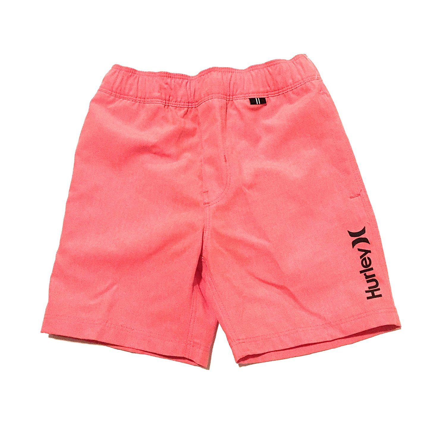 8cb9785fce Get Quotations · Hurley Little Boys Heathered Board Shorts Bright Crimson  Size 5