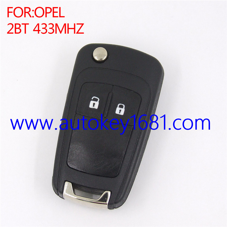 New Car Key Fob 433MHz ID46 2 Button fit for OPEL VAUXHALL Flip Remote Key
