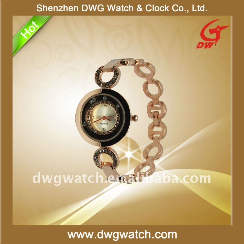 Popular Alloy Watch with Special Watch Face and Many Stones DWG--A0208-