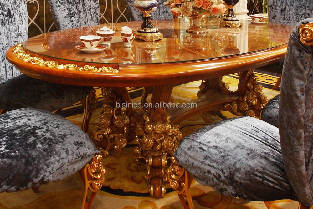 Nieuwe stijl klassieke franse steeg ontwerp houten eettafel set