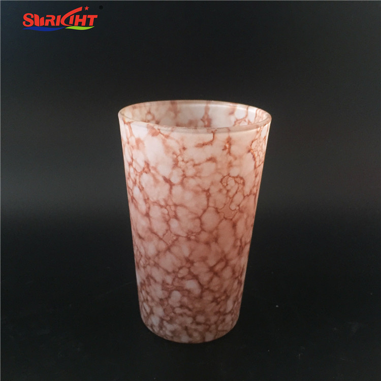 Gradient Color Thin Glass Cup Unbreakable Handblown Candle Holder