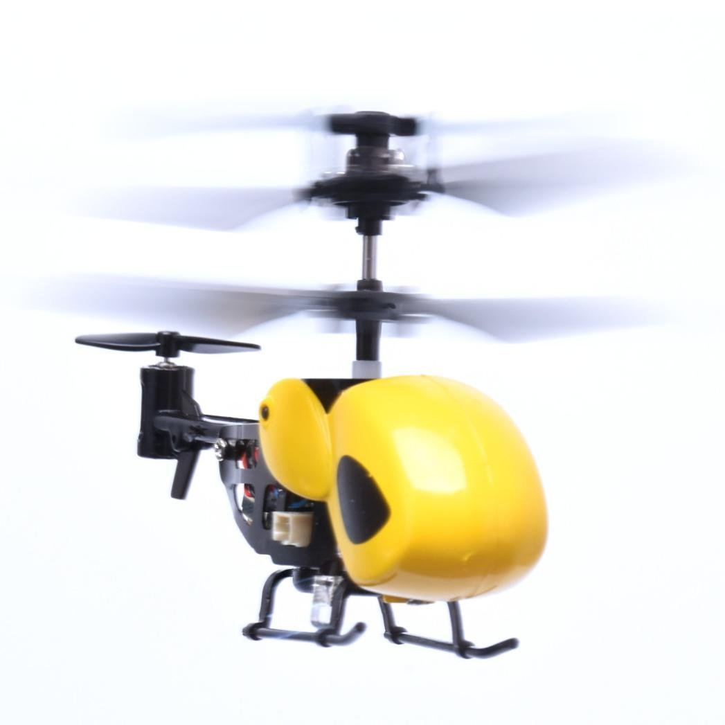 RC Helicopter, Lookatool RC 2CH Mini rc helicopter Radio Remote Control Aircraft Micro 2 Channel, Yellow