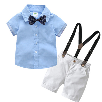 Boutique Boys Clothing Wholesale Summer Formal Baby Clothes Set