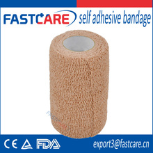 CE skin color latex free self adhesive bandage