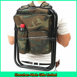Outdoor Insulated folding Camping Fishing Backpack with Chair