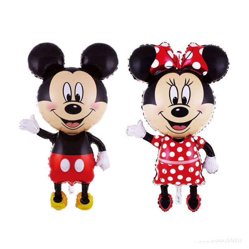 Inflateble Giant Mickey Mouse Helium Foil Balloon,Minnie Mouse Party Balloon,Birthday Party Balloons