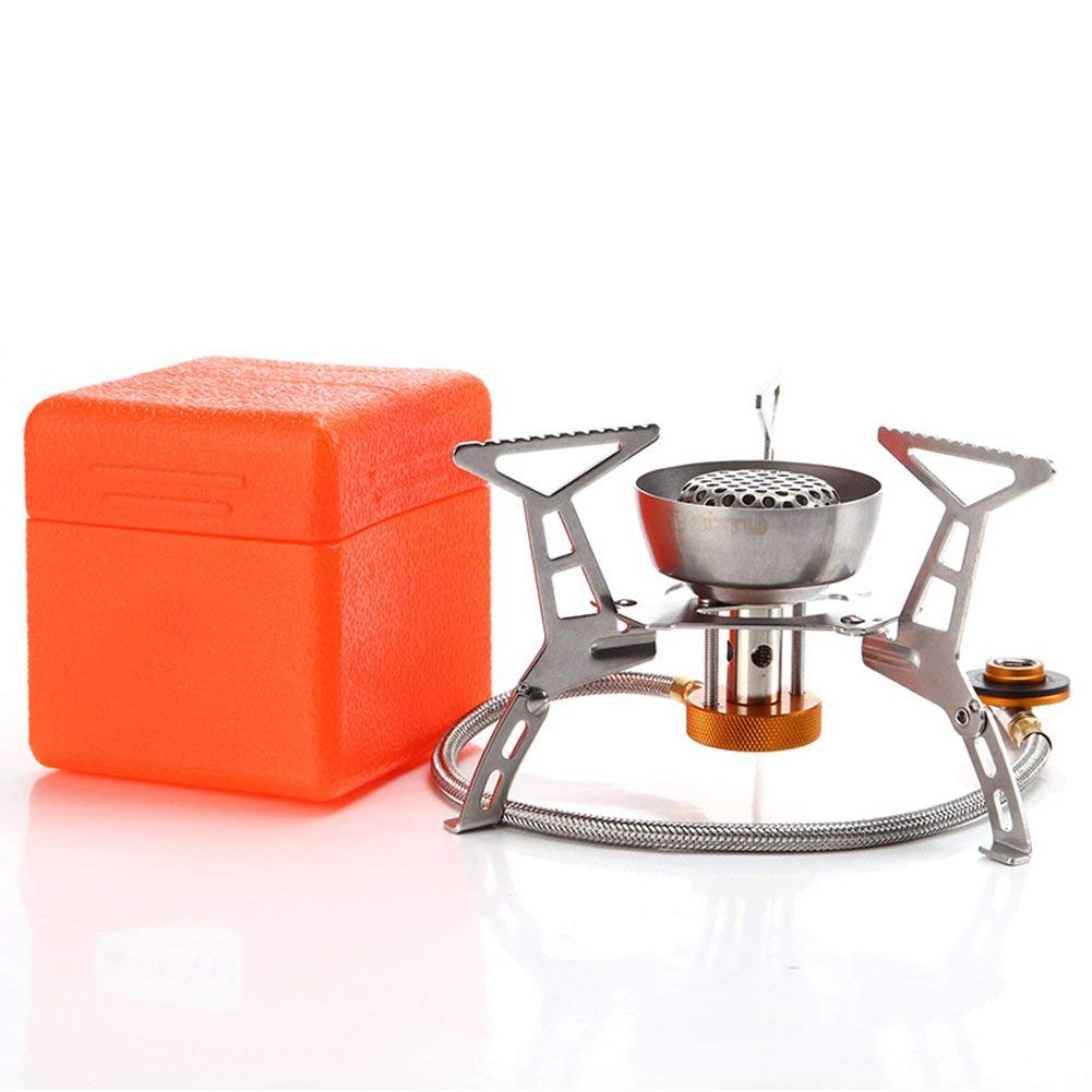 GDSZ Windproof Gas Stove Foldable Stainless Steel Stove Outdoor Burner Camping Gas Stove Portable Split Cookware 3200W With Box
