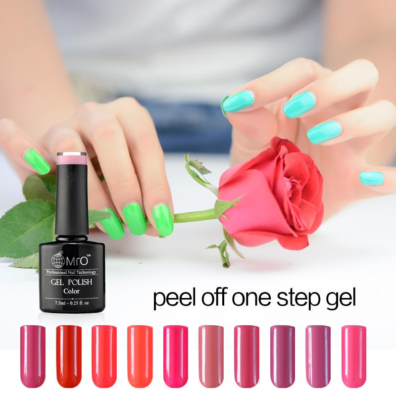 Peel Off One Step Nail Gel No Harm To Hand Easy Peel Off Nail Polish ...