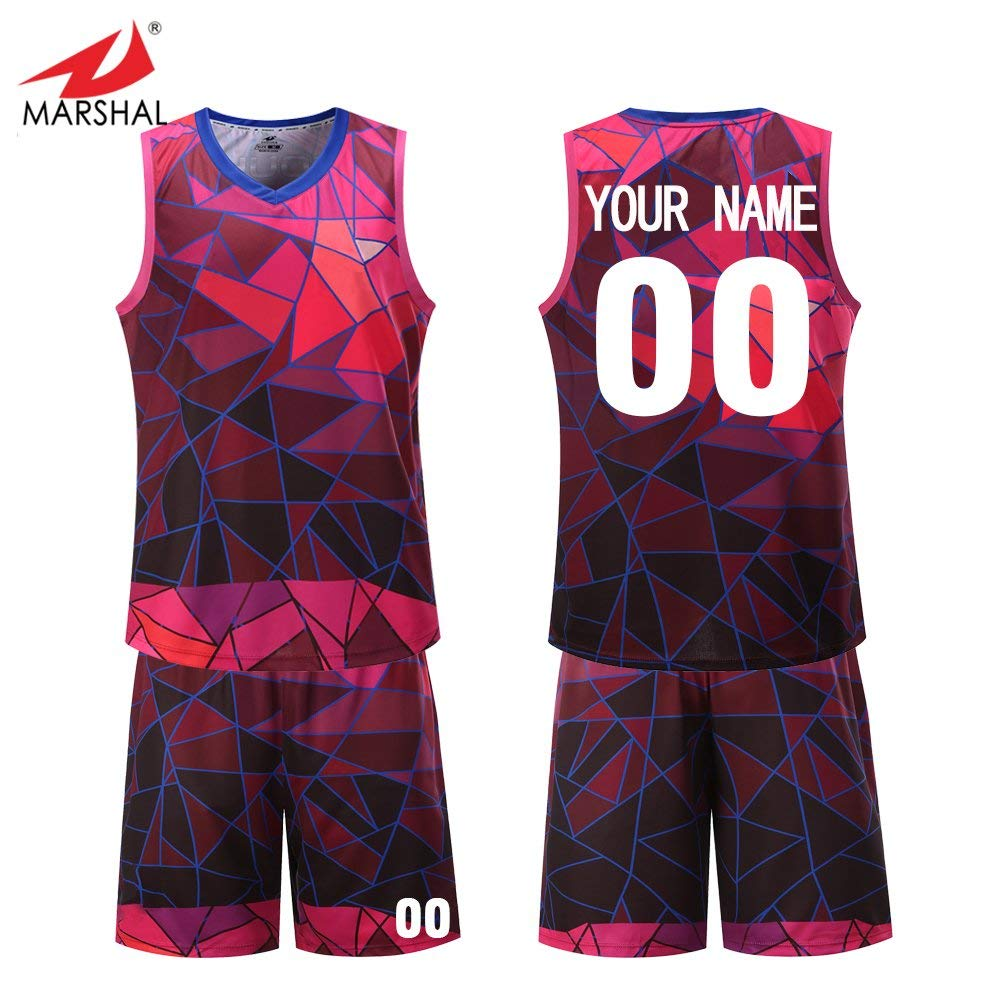 6046ae15e50 Get Quotations · Marshal Jersey Design Hot Sublimation Basketball Jerseys  Custom Name and Number