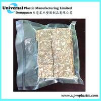 Plastic food embossed vacuum bag