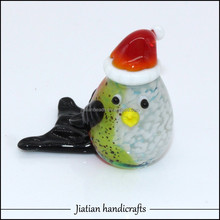 Murano lampwork art glass bird figurine