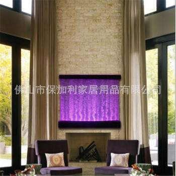 Hanging Led Room Divider Panel With Water Dancing Color Bubble Wall