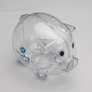 Custom Colorful Glass Acrylic Wholesale Plastic Piggy Bank