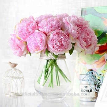 Wholesale artificial flowers peony bunch for wedding decoration