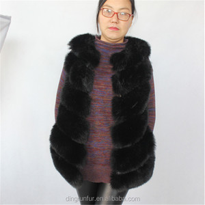 wholesale High-grade fake Fox Fur Gilet women faux fur vest