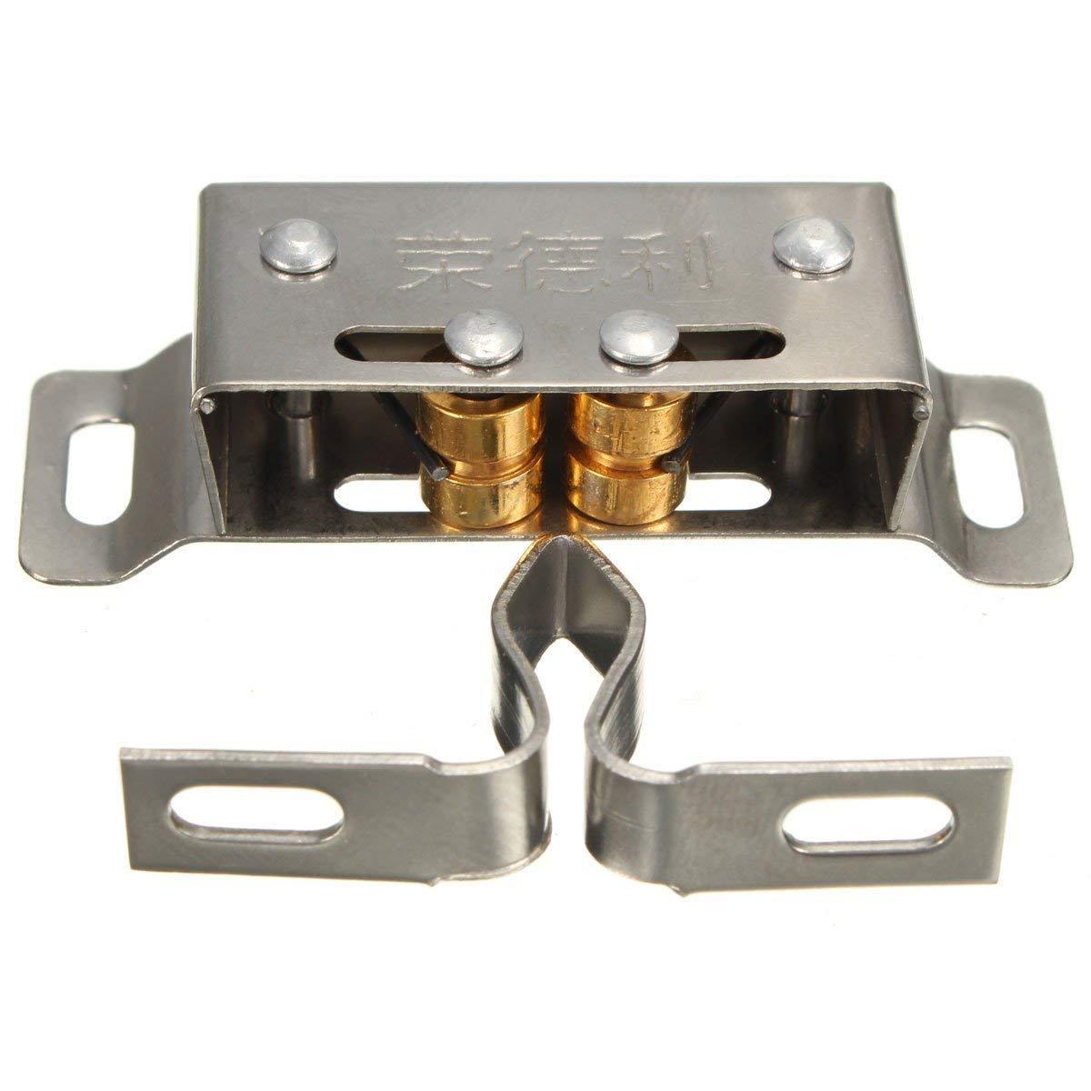 Kitchen Cabinet Catches - Metal Cabinet Catch - Stainless Steel Catch Stopper For Cupboard Cabinet Kitchen Door Latch Hardware (Cabinet Door Catch Latch)