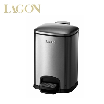 Custom LOGO Luxury Stainless Foot Pedal Waste Bin for Hotel Office G25025