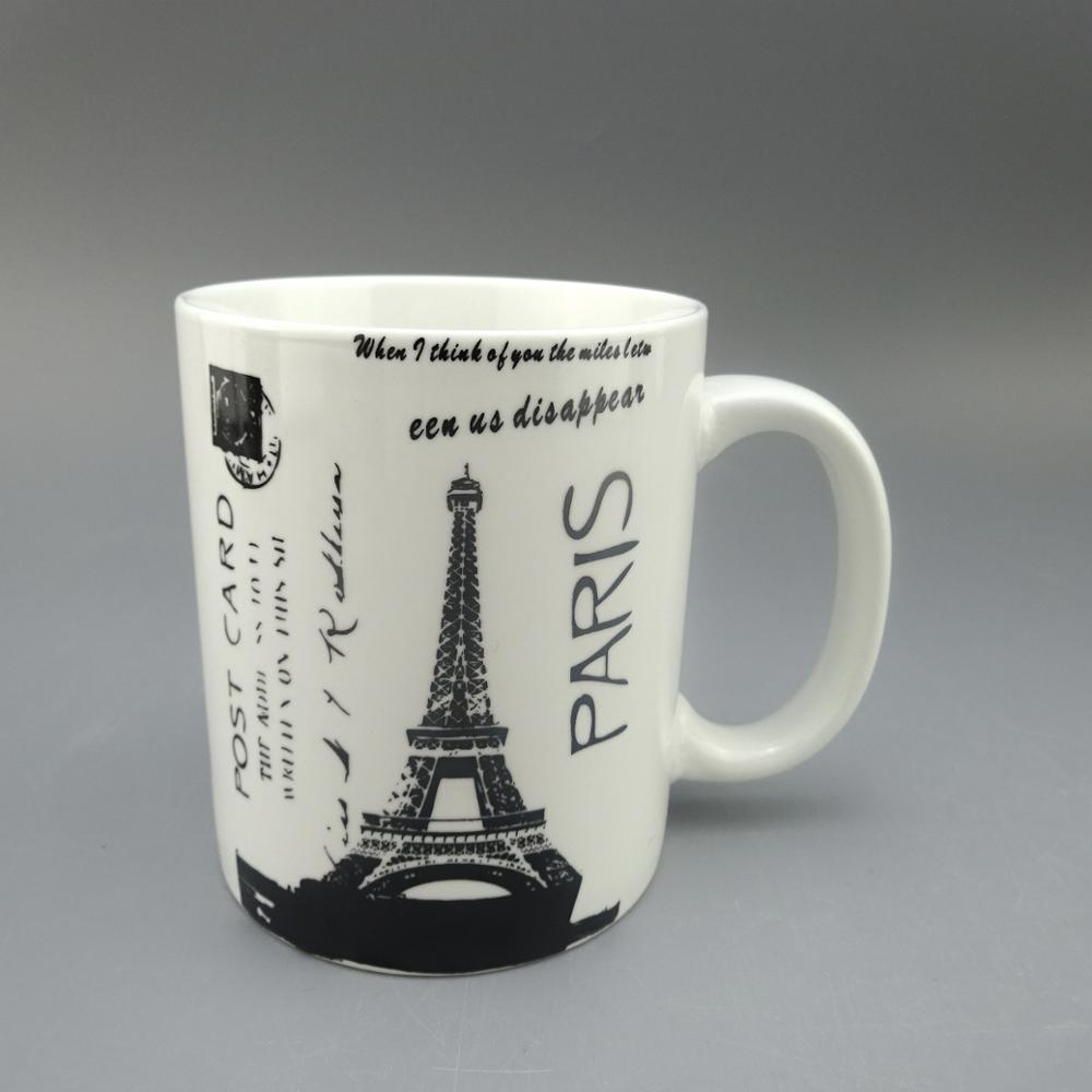 personalized mug ceramic , promotion for Eiffel Tower
