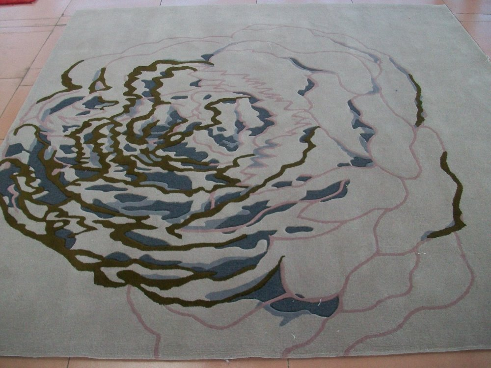 Luxury Modern Floor Rugs Custom Living Room Flower Abstract Area Rug