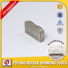 Long life diamond segments for cutting marble granite and tiles