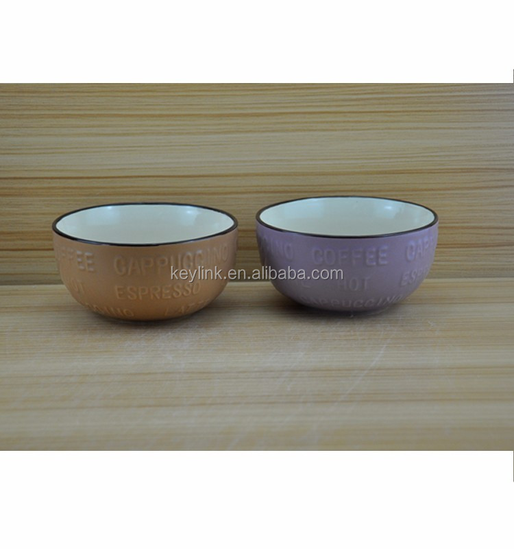 Cheap Custom Logo Printing Stoneware Cereal Bowl Color Ceramic ...