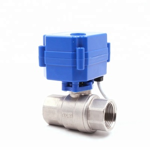 2way smart Motor Auto Water ON OFFMotorized Automatic Ball Flow Mixing Valve with ADC 24V Motor Motorised Actuator
