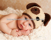 dog design handmade crochet baby hat