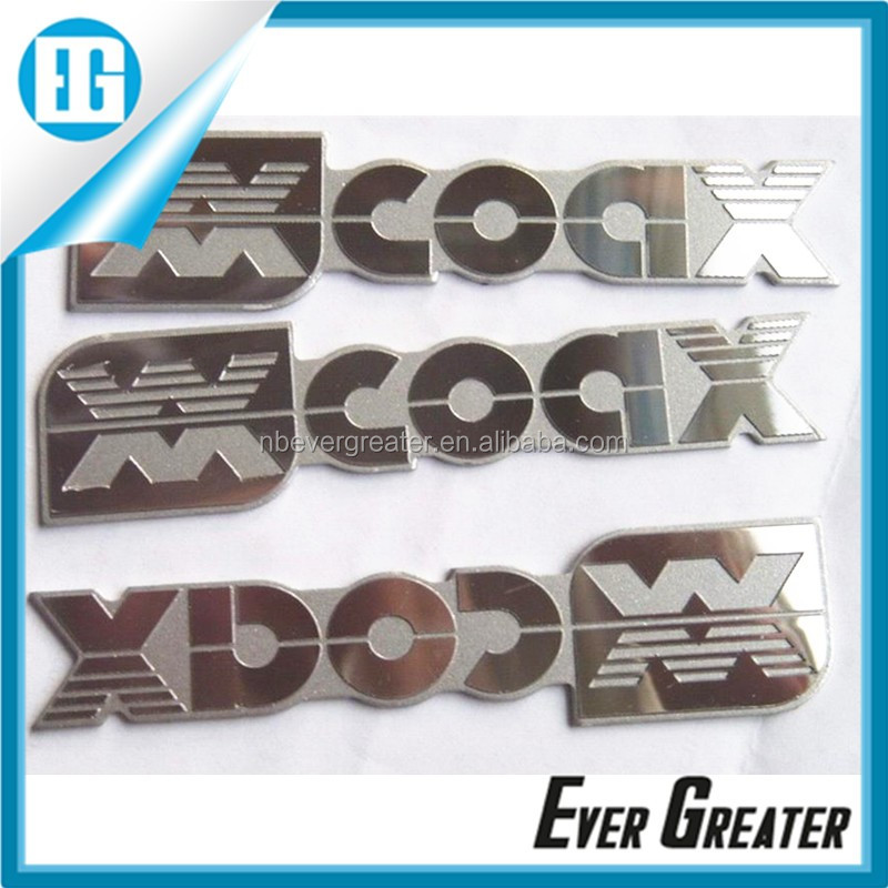 custom metal nickel logo sticker for speaker funiture car
