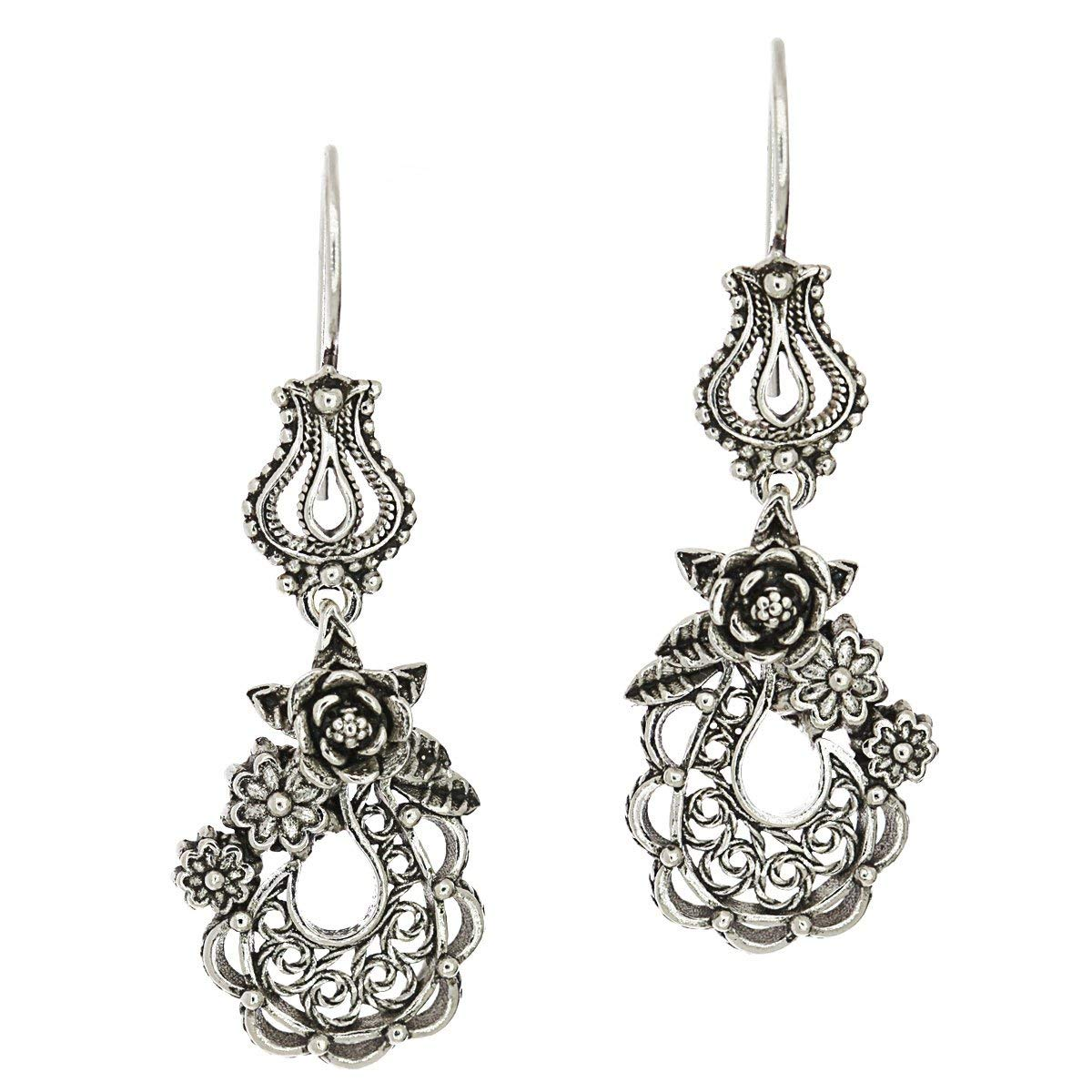 1853cffcb Cheap Silver Filigree Flower Earrings, find Silver Filigree Flower ...