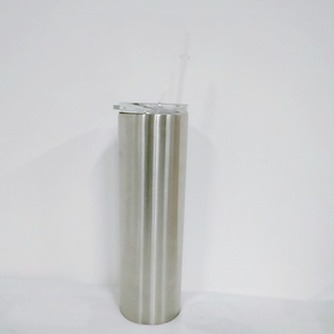 stainless steel 30 oz skinny tumbler seamless double wall insulated straight water cups wine tumbler with lids and straws