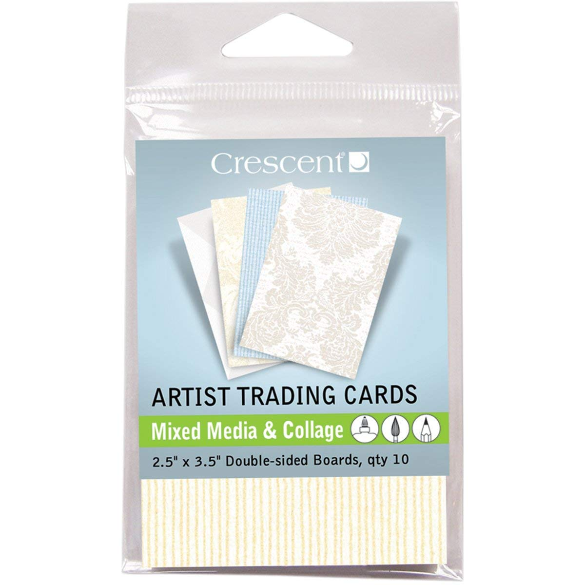 15 Pack Crescent Cardboard Artist Collage Trading Cards 2.5 by 3.5