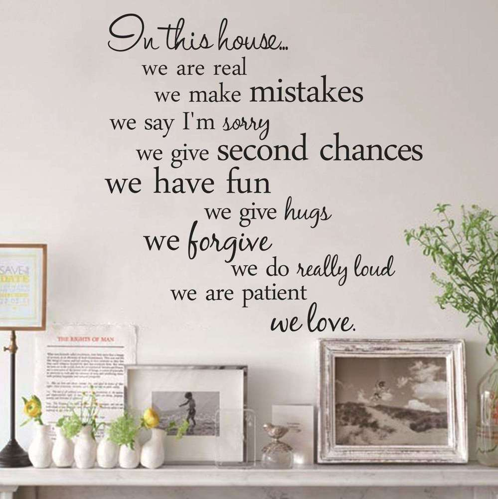 Home Decoration Sticker In This House We Do Family, Love Quote Vinyl Wall Decal Sticker Art, Words Home Decor